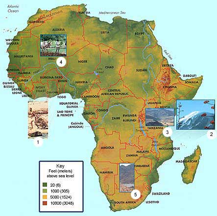 African Landforms Map. African. free download images world maps