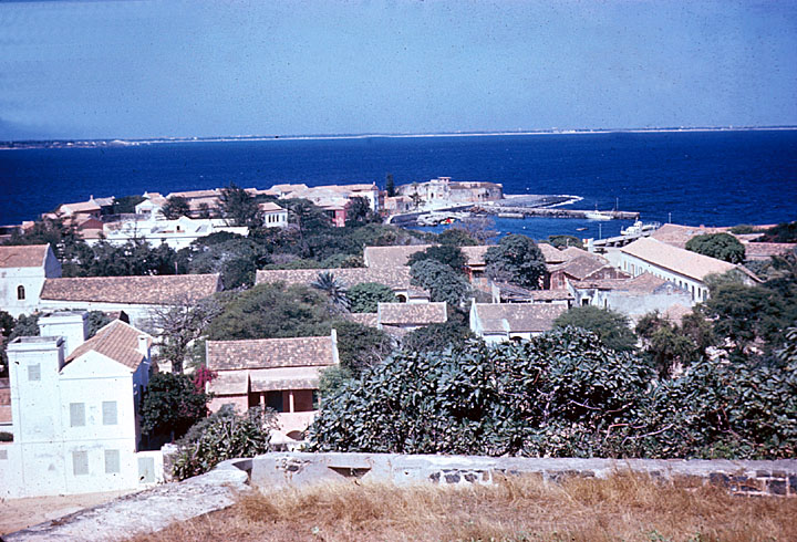 Aerial View of Goree Island