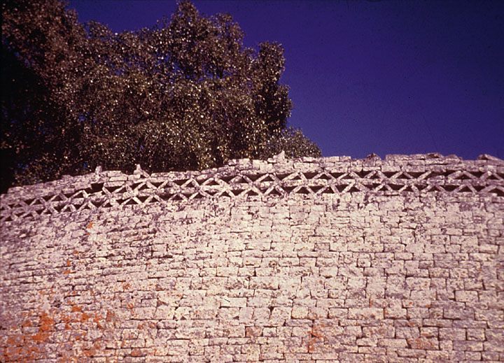 Wall of Zimbabwe Ruins