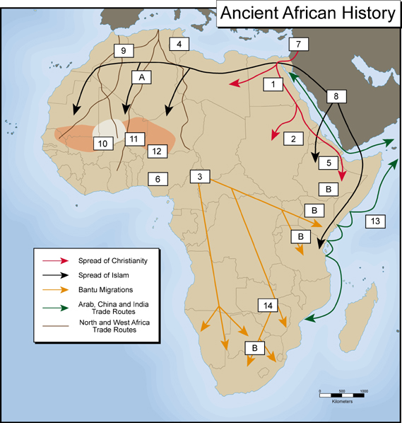 christianity in africa map