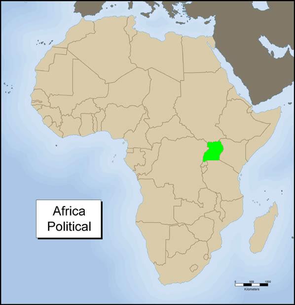 Africa Political - Uganda