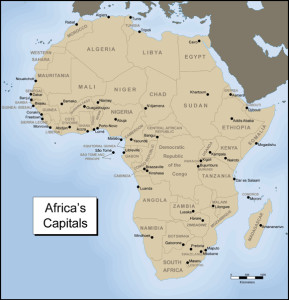 Africas Capitals Map
