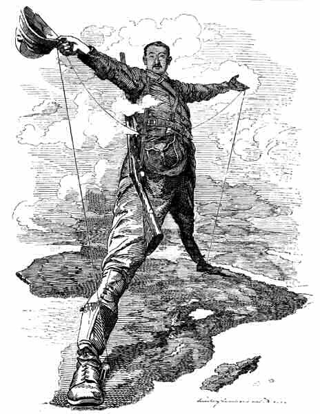 Cartoon of Cecil Rhodes
