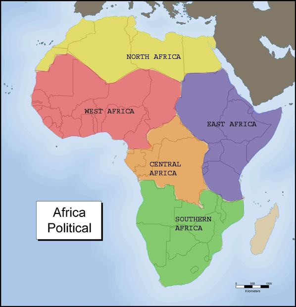 Five Regions of Africa