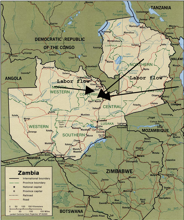 Labor Migrations in Colonial Zambia