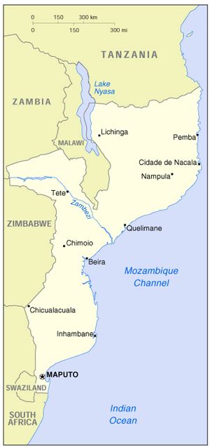Mozambique Full Map