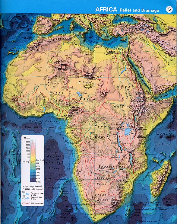 Elevation Map Of Africa With Key.Physical Map Of Africa With Key Jackenjuul