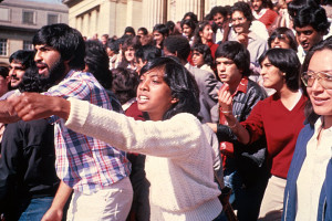 University Students Protesting Racial Policies, Circa 1982