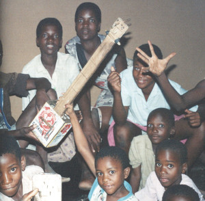 Zambian Boys Playing Tin Guitar