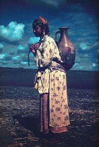 Berber Woman in Moroccan Village