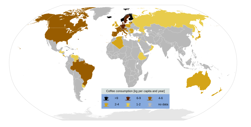 Coffee Consumption Map