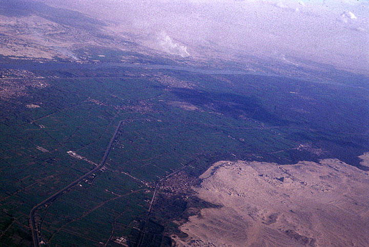Desert Meets Farmland Egypt