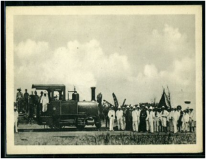 First Locomotive in Leopoldville 1898