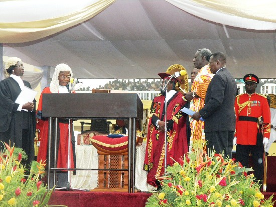 John Kufuor Inauguration