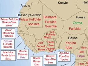 Languages of West Africa Map