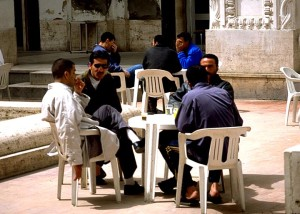 Libyan Men at Cafe