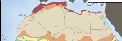 North Africa Climate Map