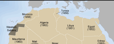 North Africa Independence Map