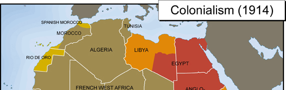 North African Colonialism Map 1914