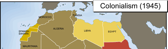 North African Colonialism Map 1945