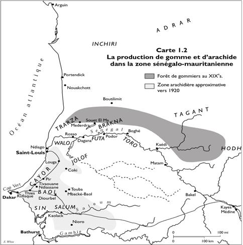 Peanut and Sorghum Production Map
