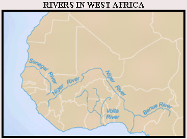 Rivers in West Africa Map