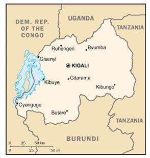 Rwanda Today Map