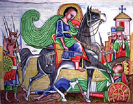 Saint Mercurius slaying Julianius