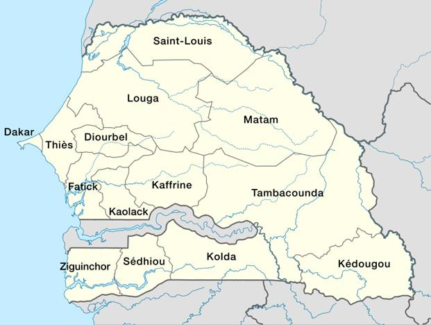 Senegal Area Map
