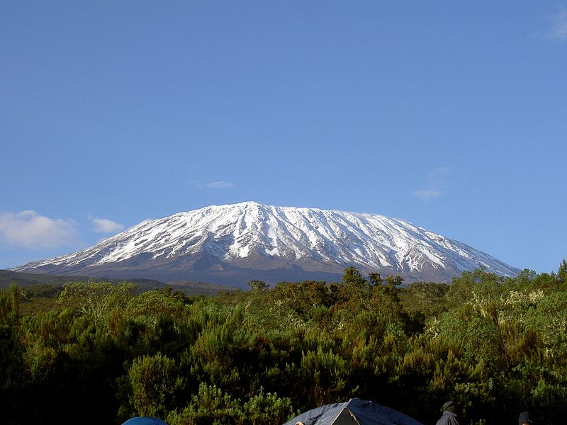 Snow on Mt Kilimanjaro