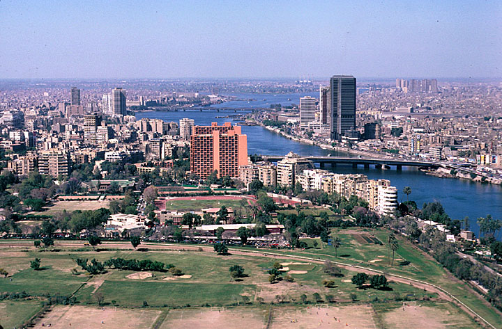 View of Cairo and the Nile