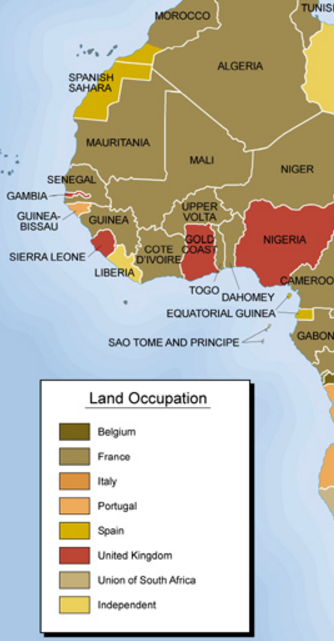 West Africa Colonialism 1945
