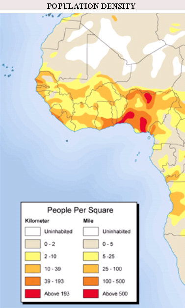 West Africa Population Density