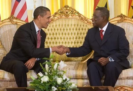 Obama and John Atta Mills