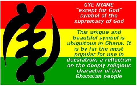 Symbol of God in Adinkra Character