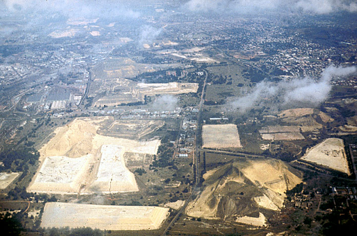 Ariel View of Gold Mines