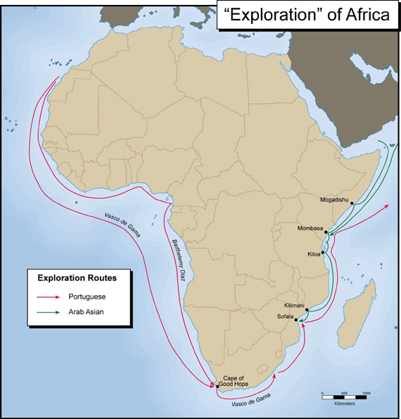 Exploration of Africa Map