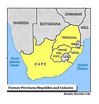 Former Provinces Map