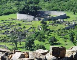 Great Zimbabwe enclosure aerial view