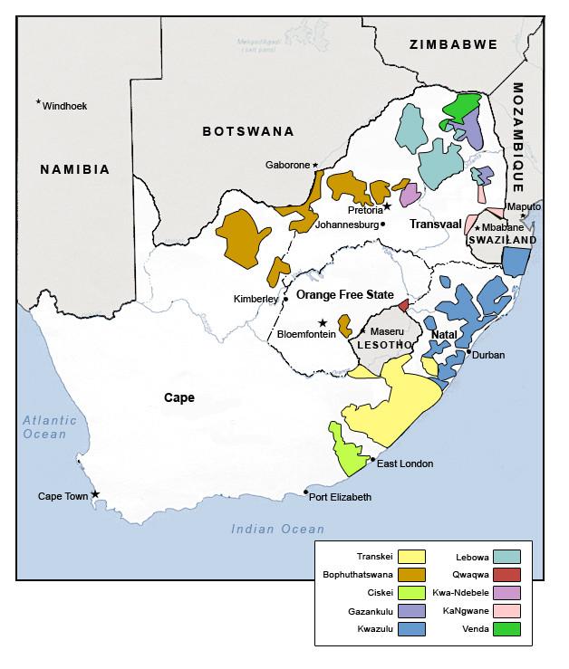 South Africa Black Homelands