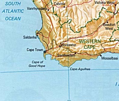 South Africa Exploration Map