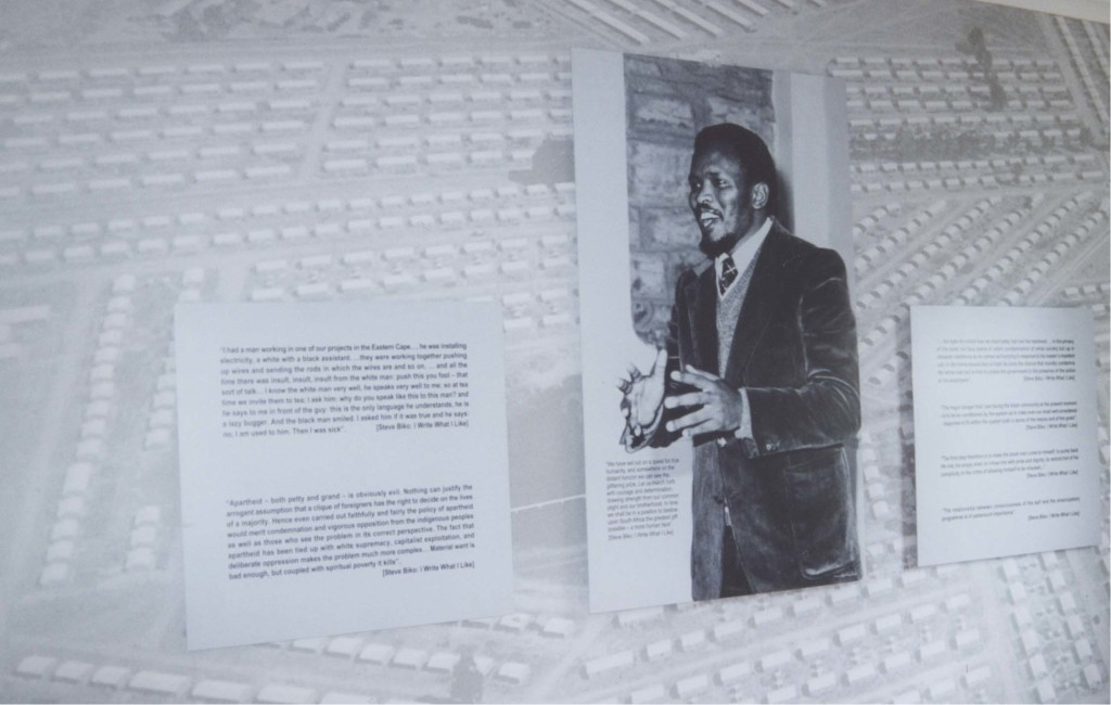 Steve Biko next to Excerpts of his Writings