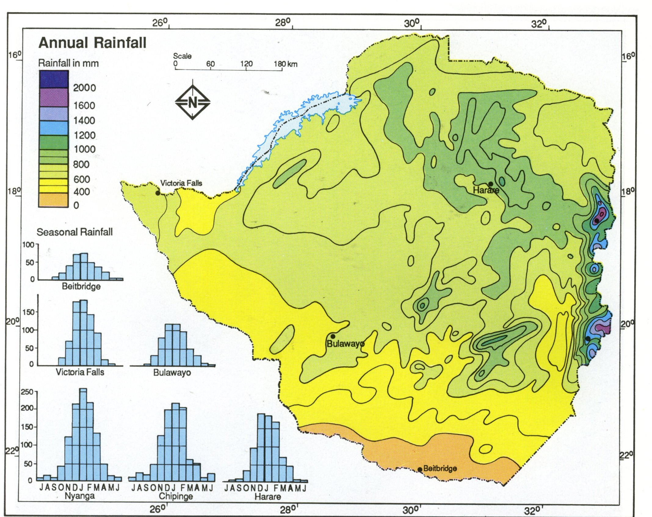 Module thirty activity one exploring africa zimbabwe annual rainfall map gumiabroncs Image collections
