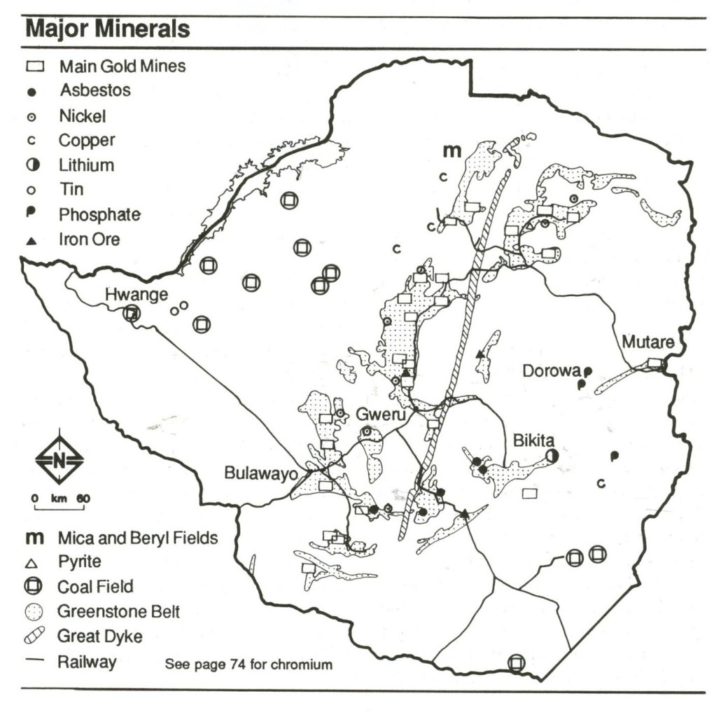 Zimbabwe Major Minerals