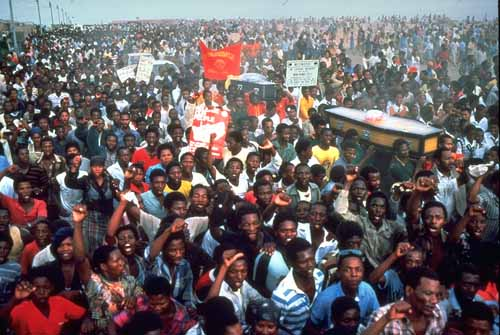 funeral of anti apartheid activist