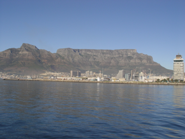 Cape Town from Robben Island ferry