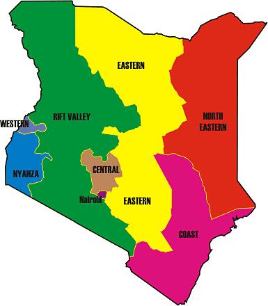 Kenya 8 Provinces