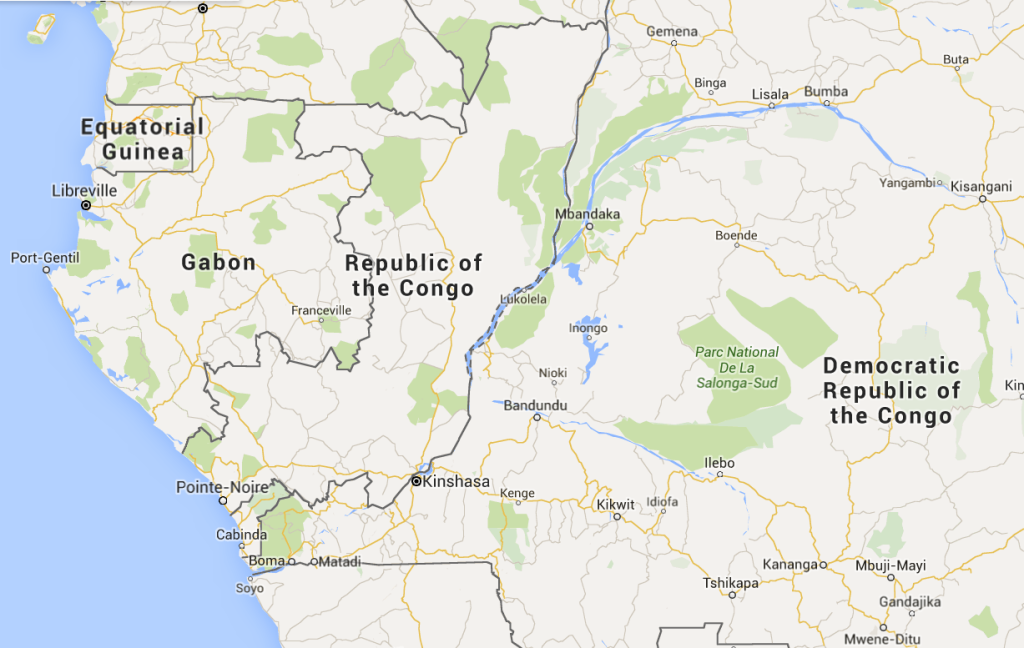 Congo Google Map