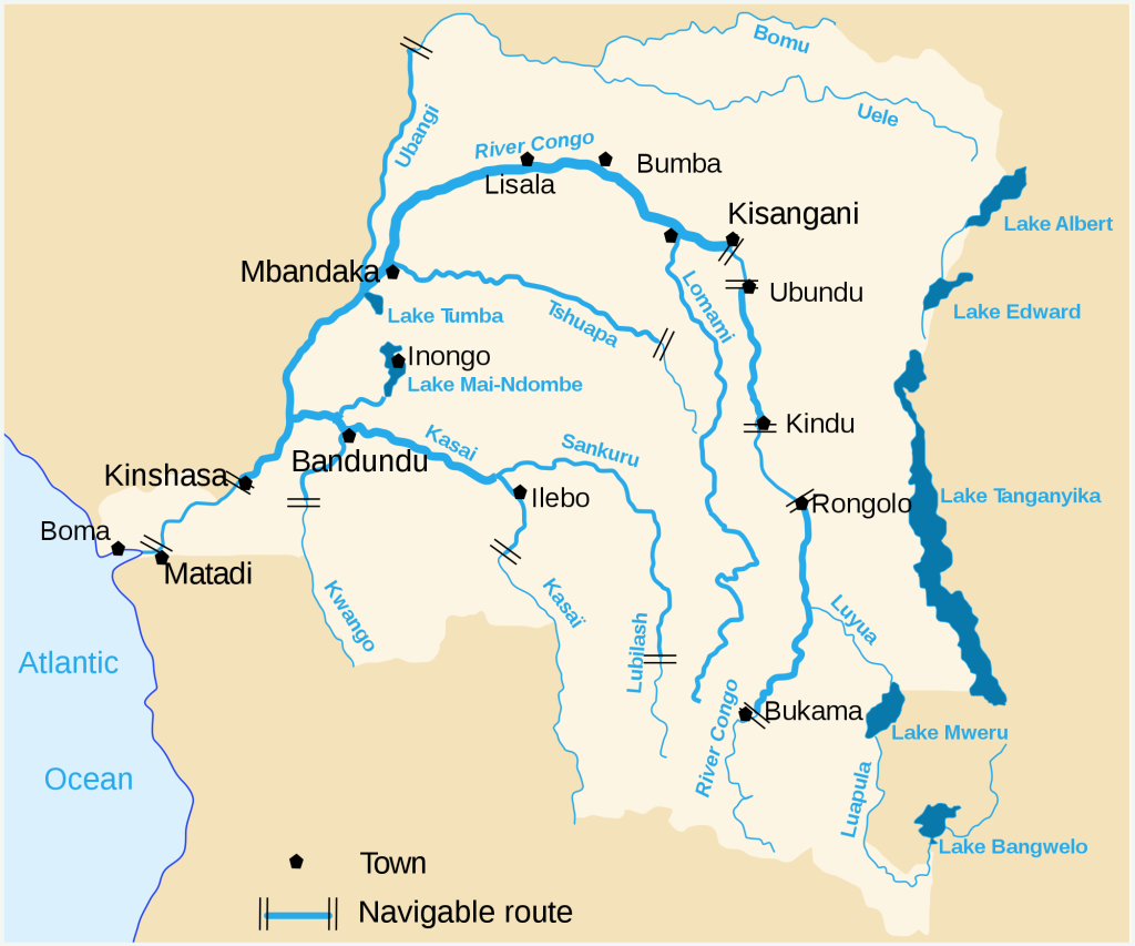 Congo Rivers Map
