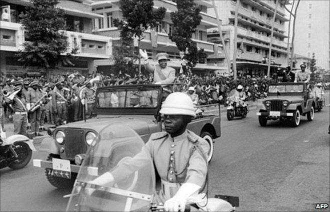 President Kasa-Vuvu at the Independence Date Parade, June 30, 1960